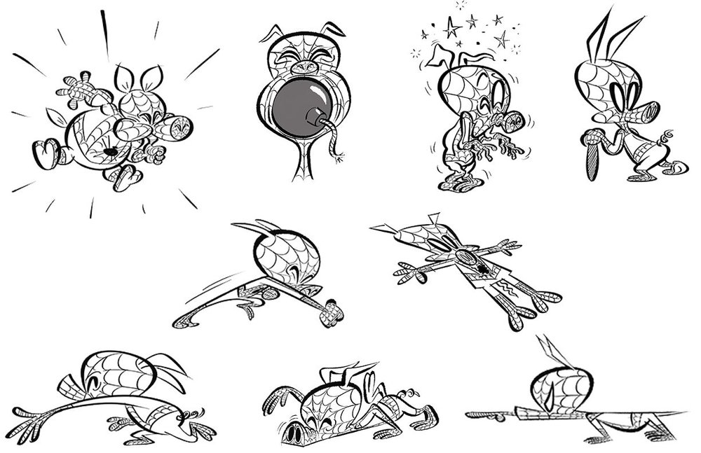 new-spider-ham-focused-featurette-and-concept-art-from-spider-man-into-the-spider-verse4
