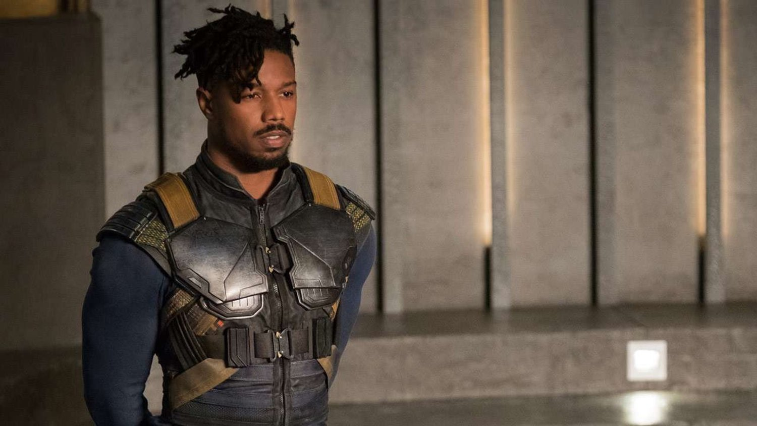"""behind the scenes, When Michael B. Jordan instantly improvised Killmonger's """"Hey, Auntie"""" line from Black Panther."""