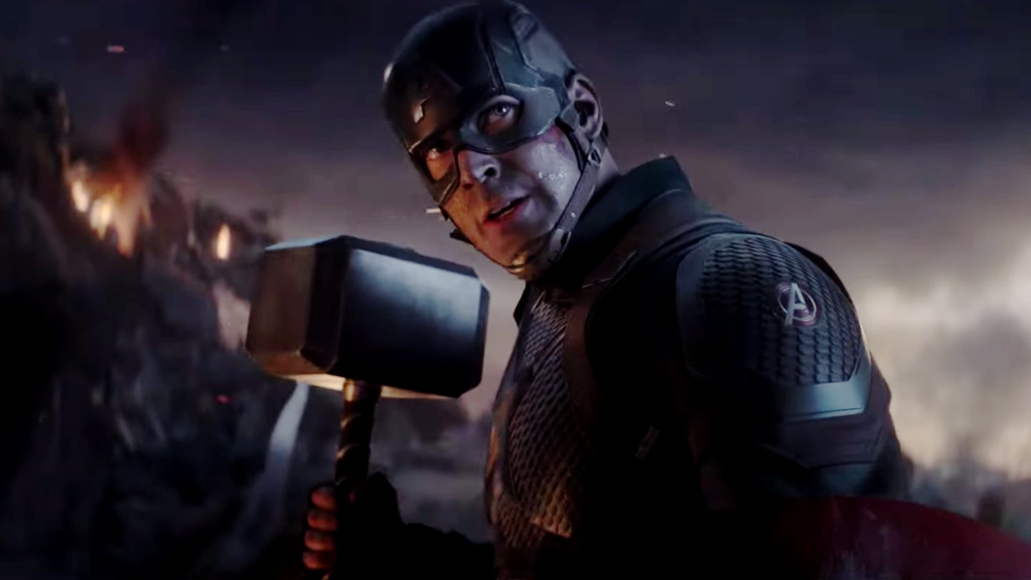 Watch Captain America Fight Thanos with Mjolnir Again in