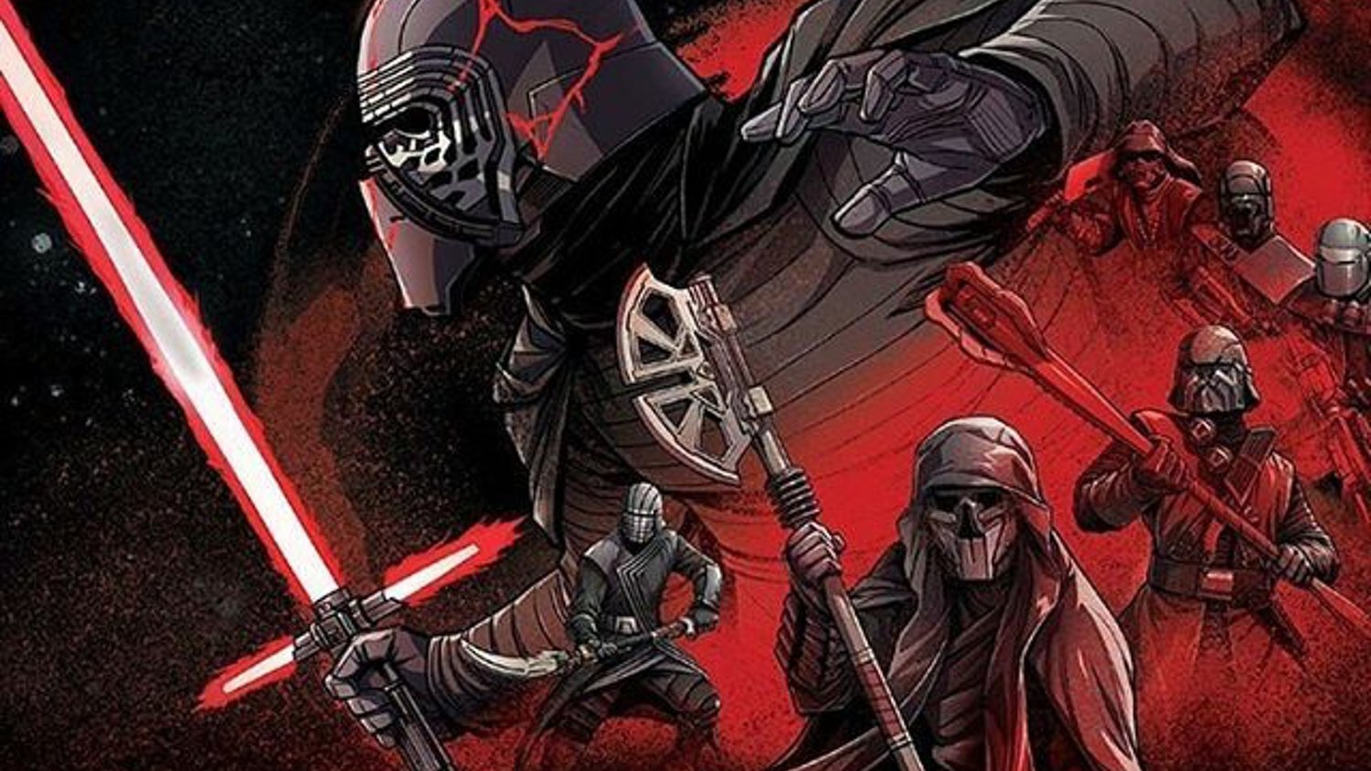 Star Wars The Rise Of Skywalker Promo Art Features Kylo Ren The Knights Of Ren Rey And More Geektyrant