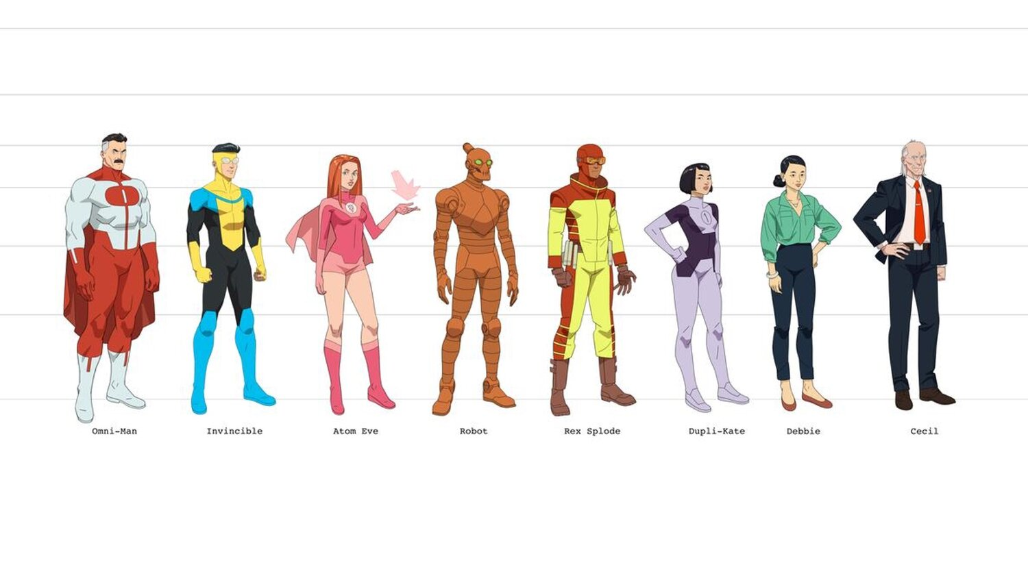 Character Designs Revealed For Amazon's Animated Adaptation of Robert Kirkman's INVINCIBLE
