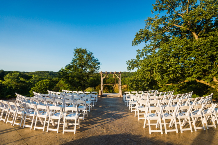 The ceremony area setup with 100 chairs.  (200 chairs available)