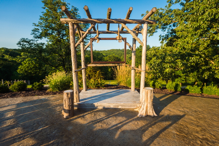 The arbor for ceremonies & the picture frame as part of our mini photo booth