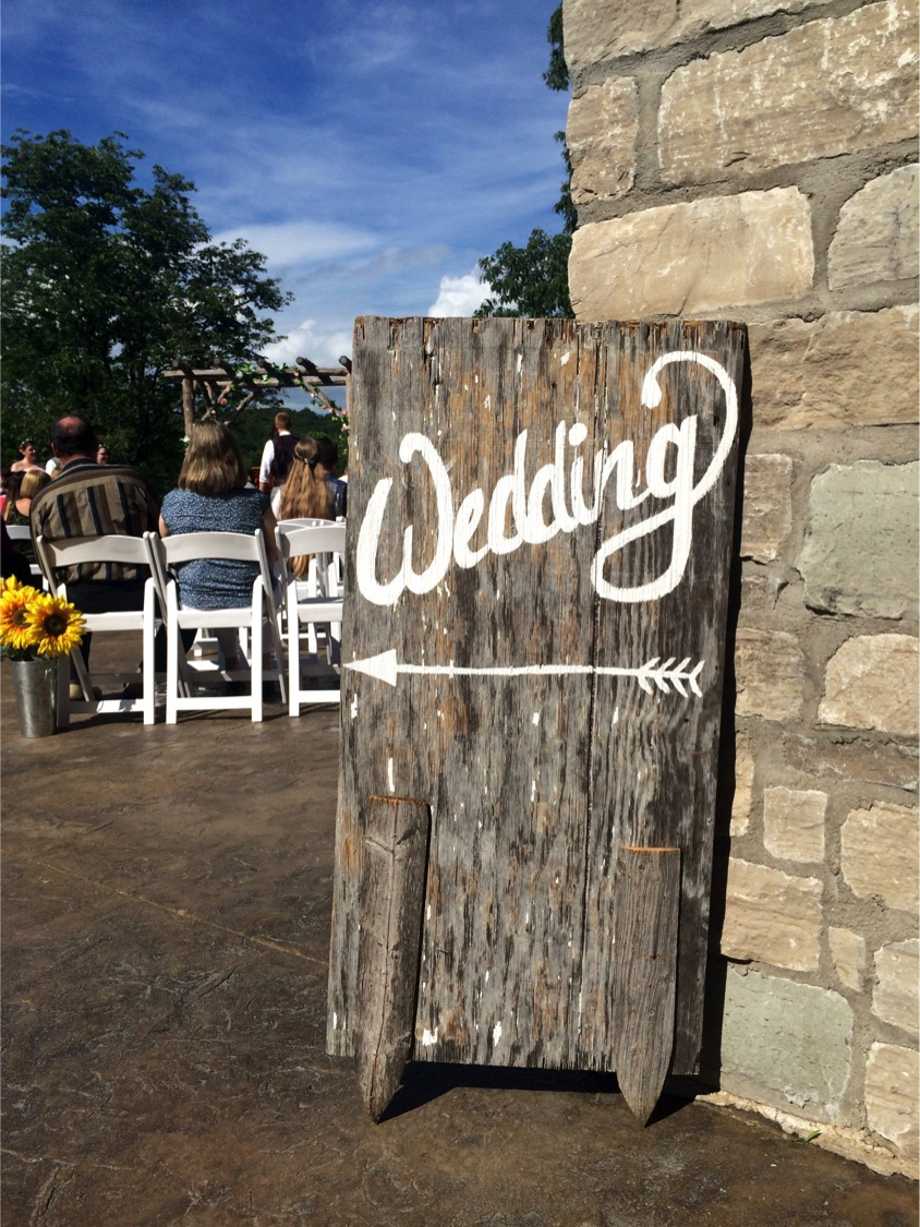 #15 - Wood Wedding Sign