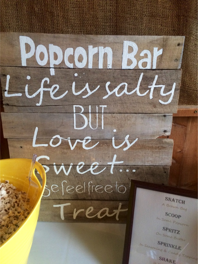 #17 - Popcorn Bar Sign