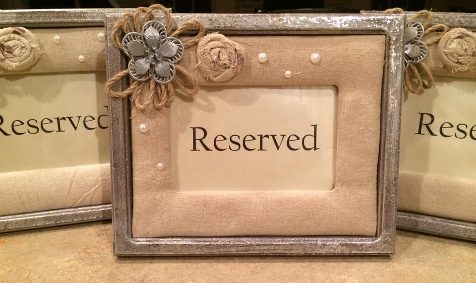 #39 - Reserved Signs (QTY 2)