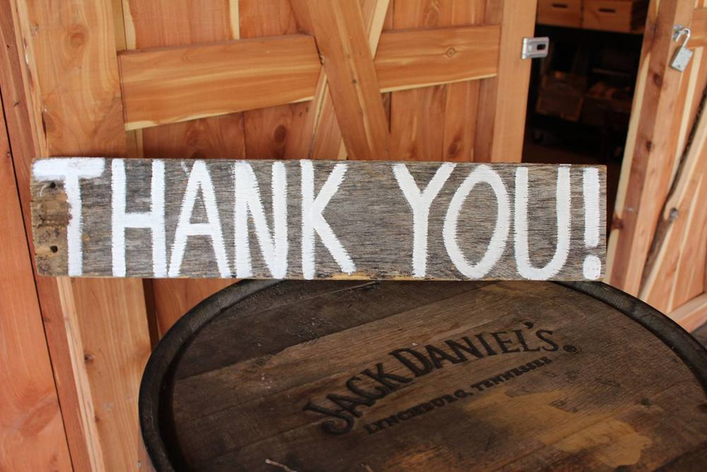 #43 - Wood Thank You Sign