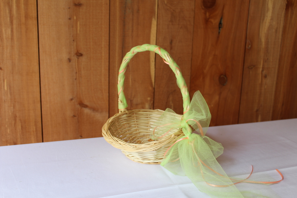 #69 - Green Wicker Basket