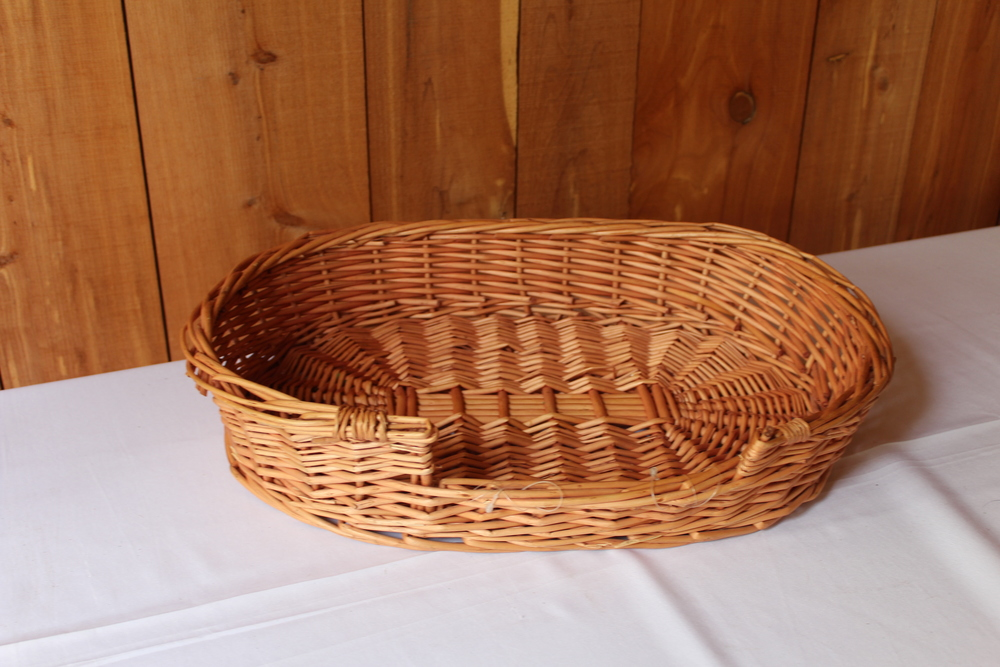 #74 - Flat Wicker Basket