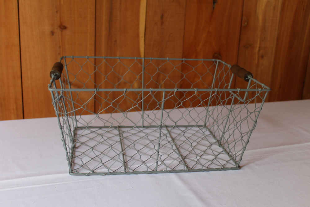 #80 - Blue Wire Basket