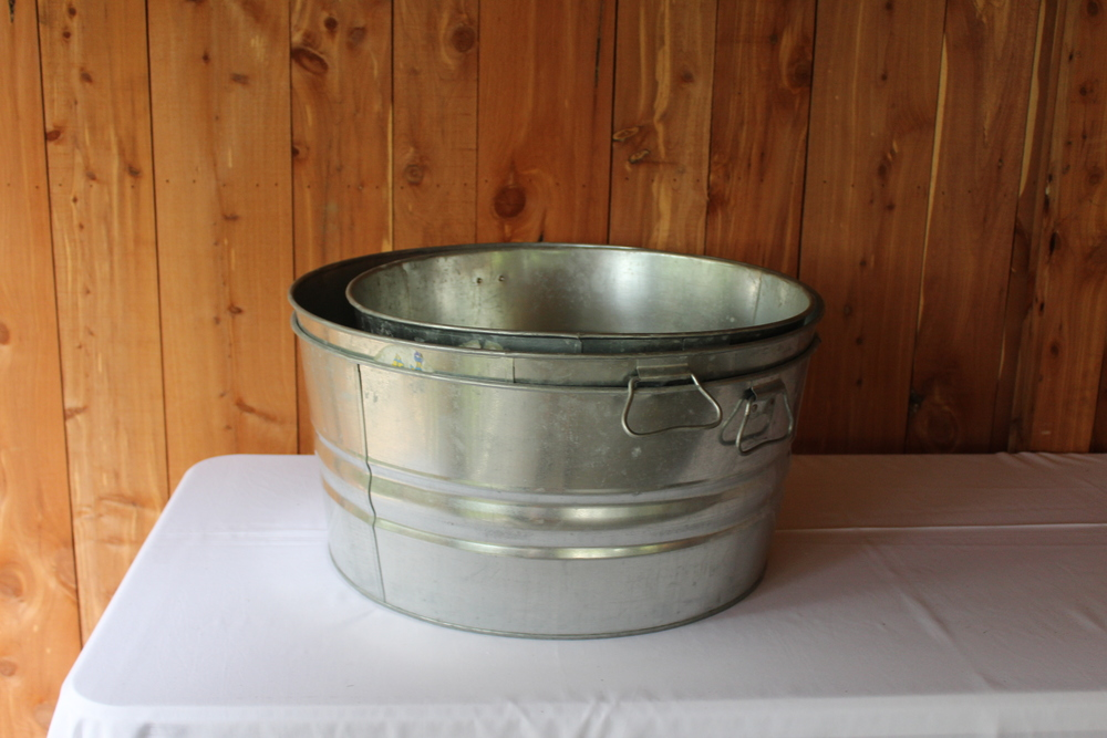 #100 - Large Galvanized Tubs