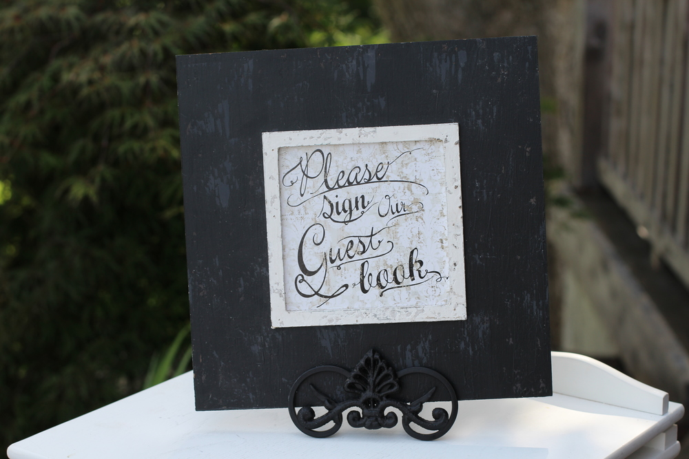 #118 - Guest Book Sign Black