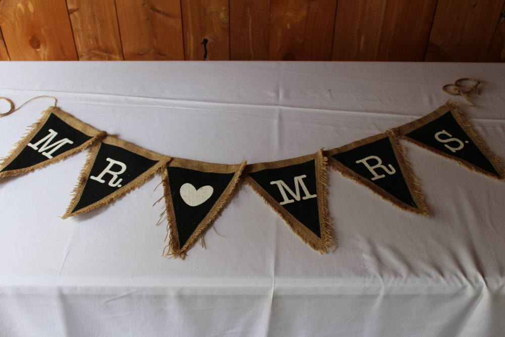 #152 - Black Mr. & Mrs. Burlap