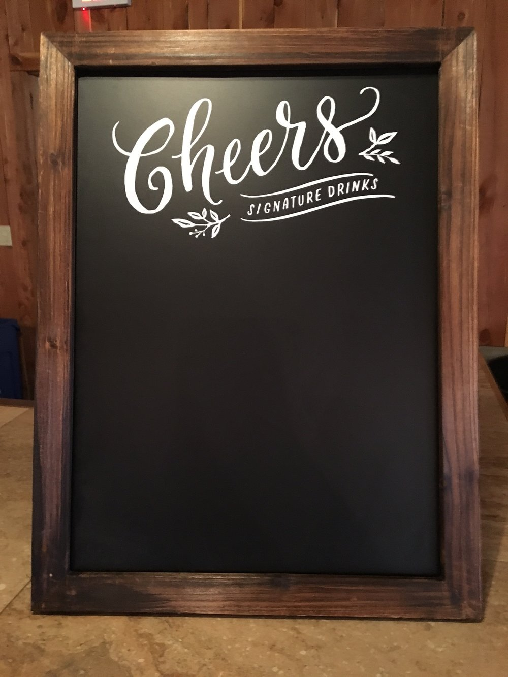 #184 - Signature Drinks Bar Sign