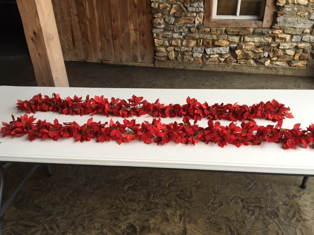#188 - Red Flower Garland