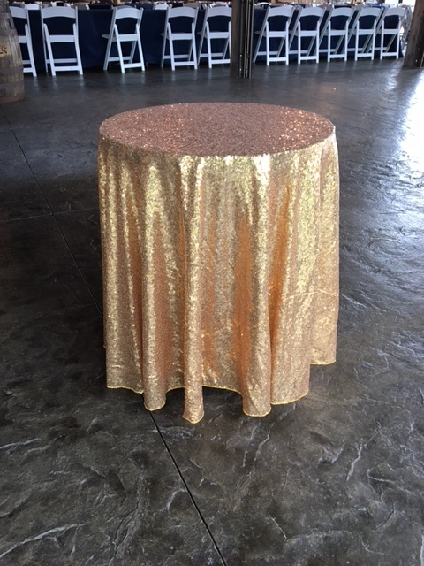 #214 - MAY NOT BE USED ON FOOD TABLES - Small Gold Tablecloth