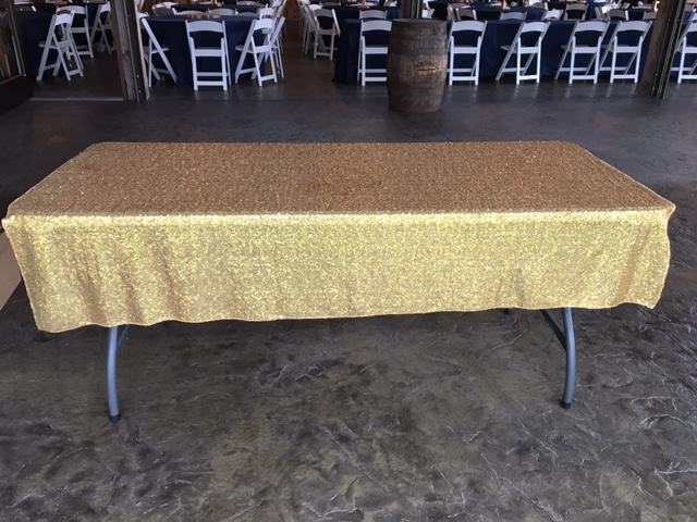 #215 - MAY NOT BE USED ON FOOD TABLES - Accent Gold Tablecloth