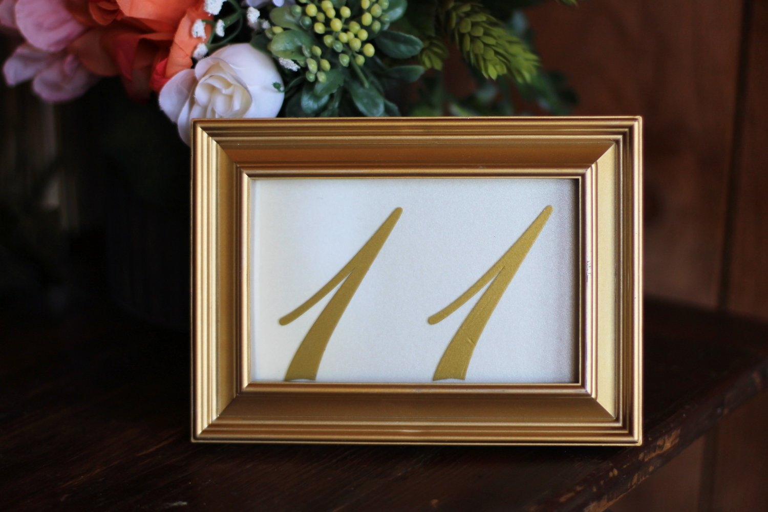 TD: #34 - Gold Frame Table Numbers — Haue Valley: St. Louis Wedding ...