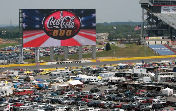 Truckparking at every nascar race featuring for Charlotte motor speedway campground