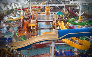 The indoor waterpark at the Kalahari Resorts in Wisconsin