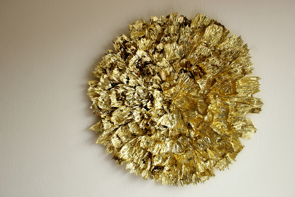 HOW TO MAKE A GIANT GOLD WALL DECORATION U2014 Hank And Hunt Party Crafts