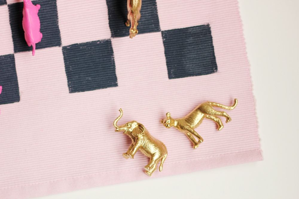 diy animal checkers gold pink.JPG