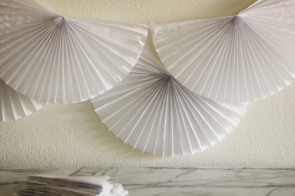 diy paper fan dessert table decor.JPG