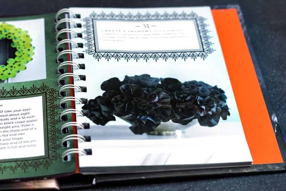 crepe paper flowers black halloween.JPG