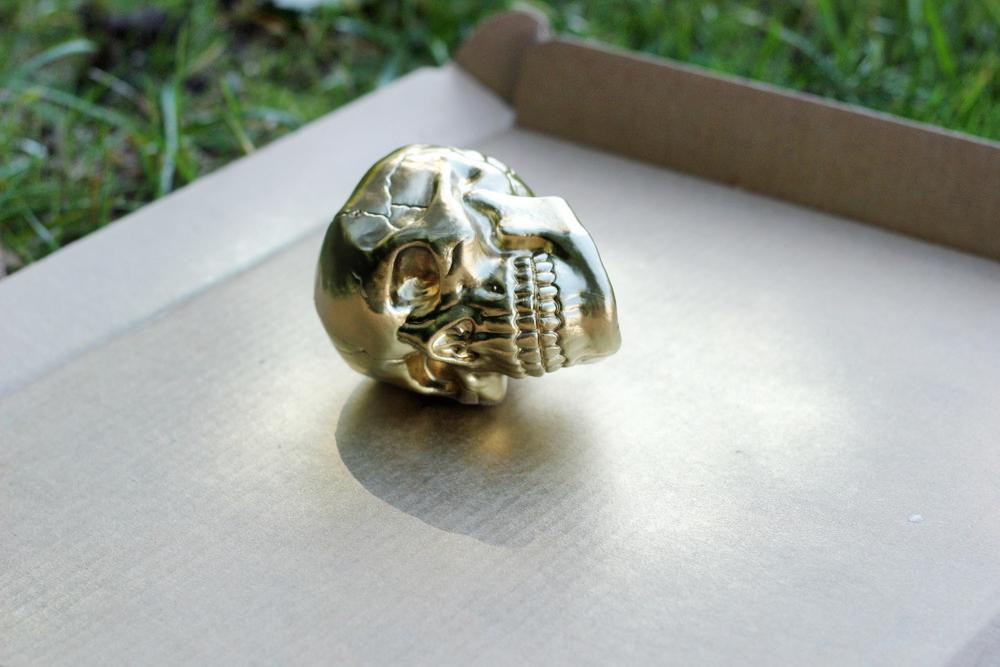 gold spray paint skull diy.JPG
