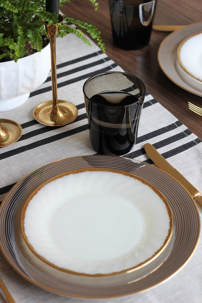 black and gold table setting.JPG