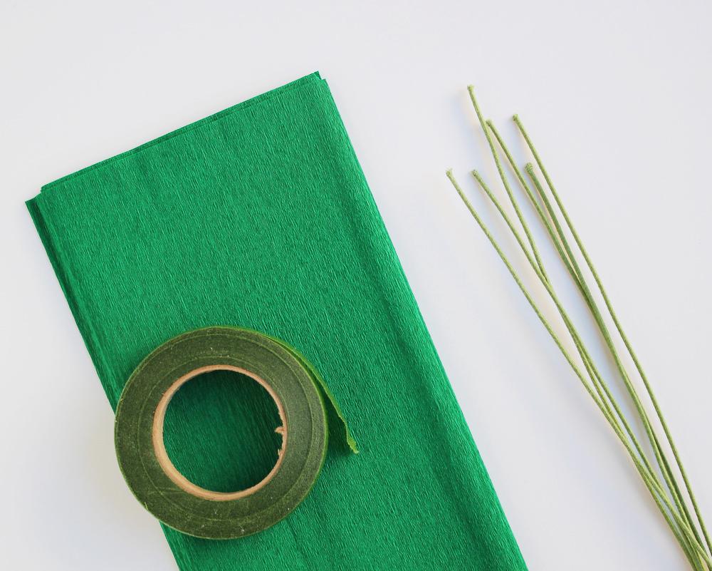diy crepe paper leaf garland supplies.JPG
