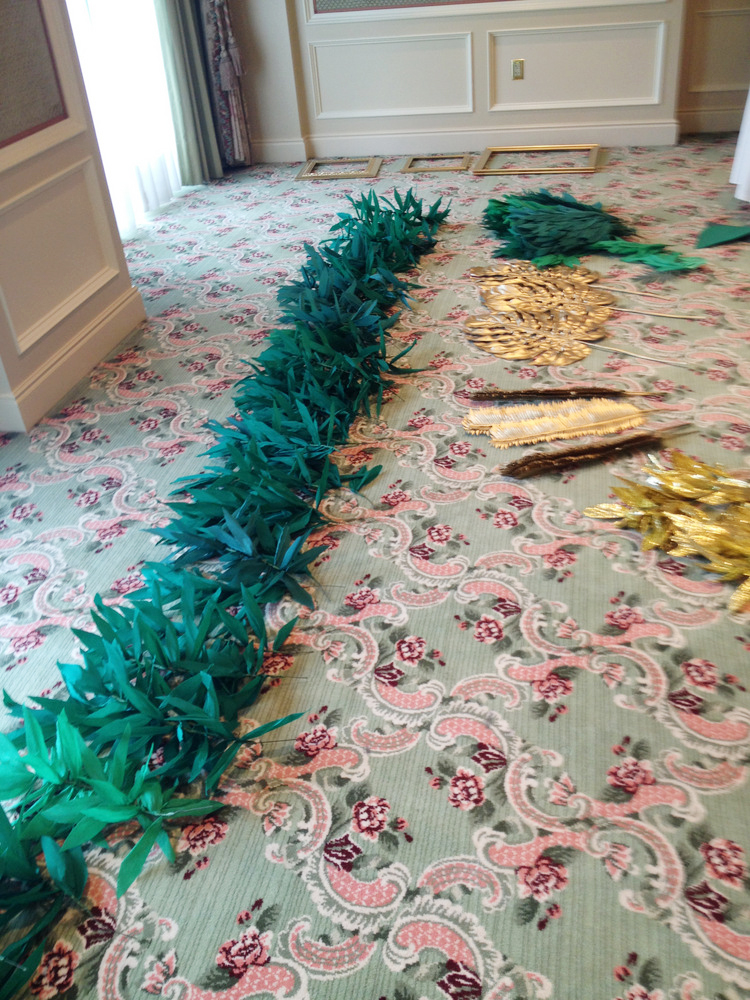 a whole lot of fluffing garland.JPG