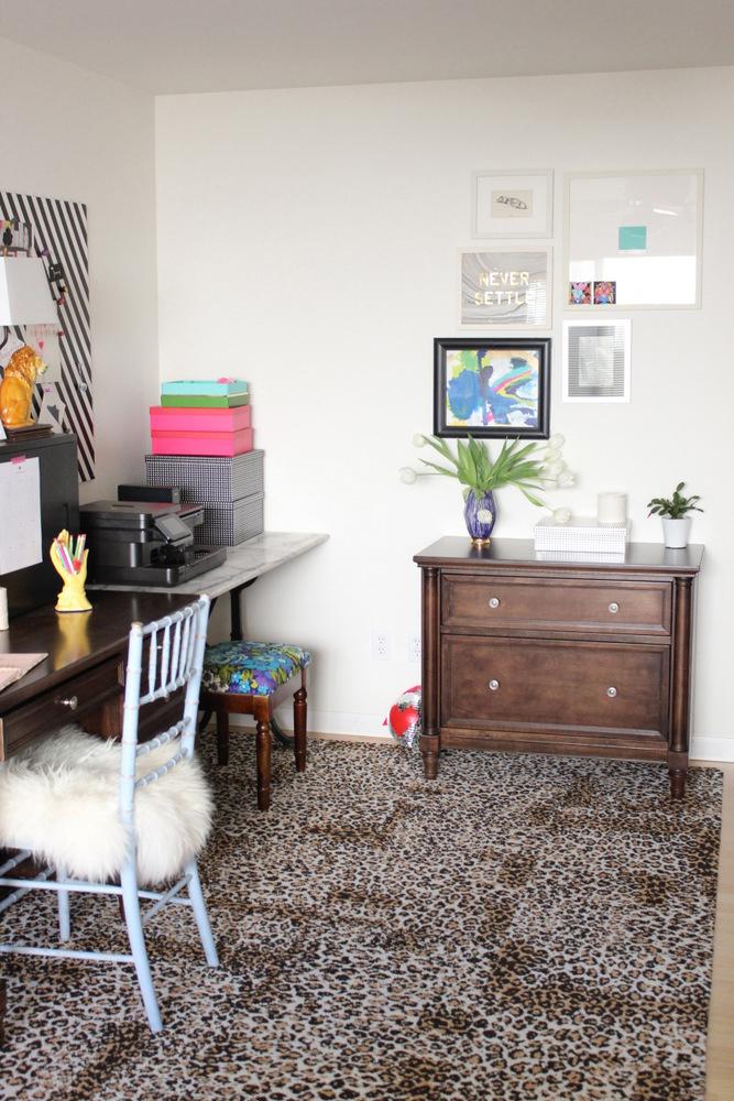leopard print rug in blog office.JPG