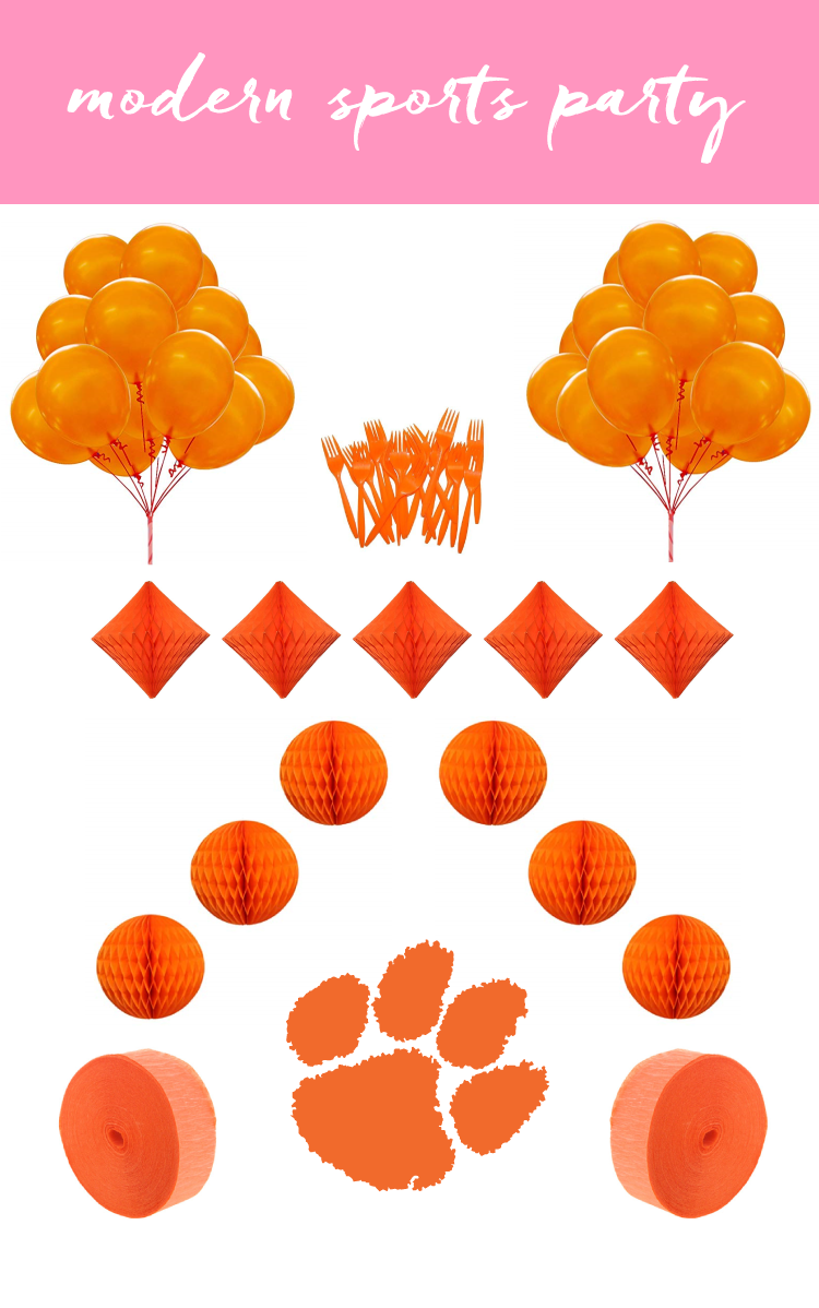 Throwing a birthday party with a sports team theme? Focus on color rather than labeled items to make it feel fresh and modern. Stylish is how the south celebrates football.