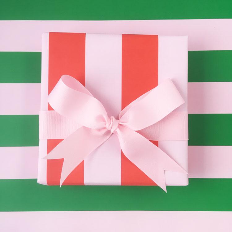 palm beach stripe christmas gift wrap by jenny batt
