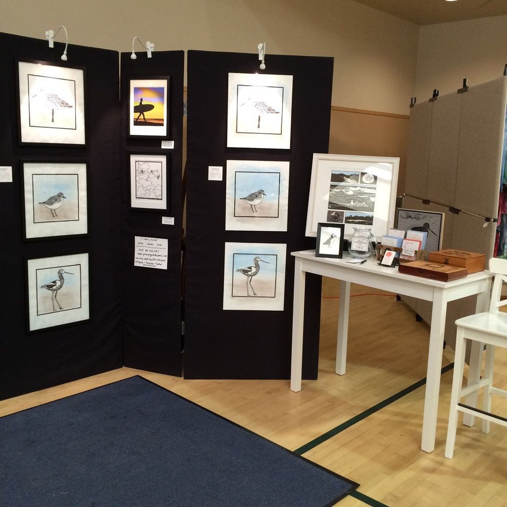 My booth setup at Godwit Days 2015. There are those shorebirds!