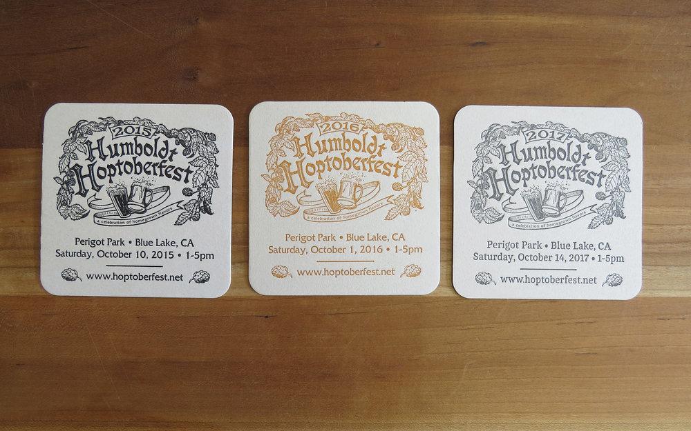 Coasters - 2015, 2016, 2017 Humboldt Hoptoberfest.