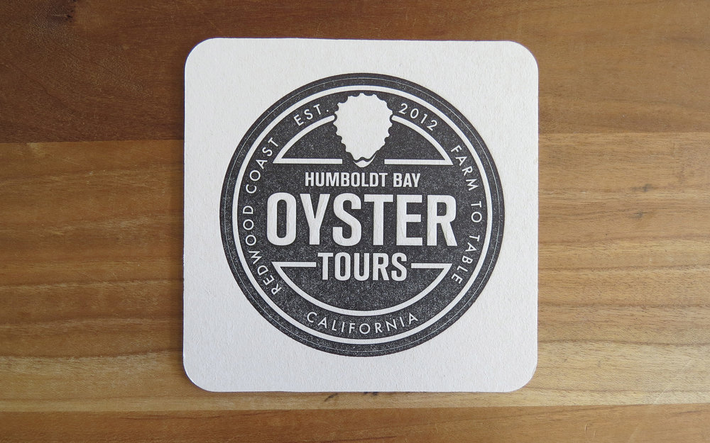 Coasters - Humboldt Bay Oyster Tours. One color.