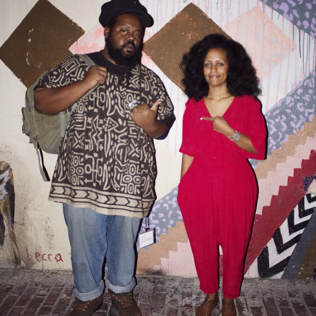 Ras G and Nes Abegaze at the Regent Theater.