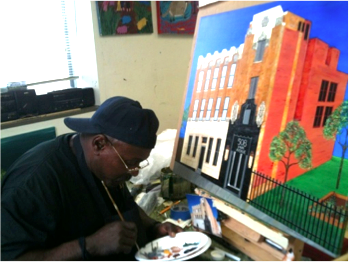 Leon Pollard paints his vision for 508 Park.