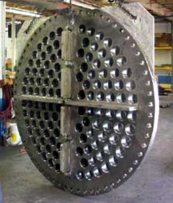 "84"" Waterflex potable water check valve perforated steel plate"
