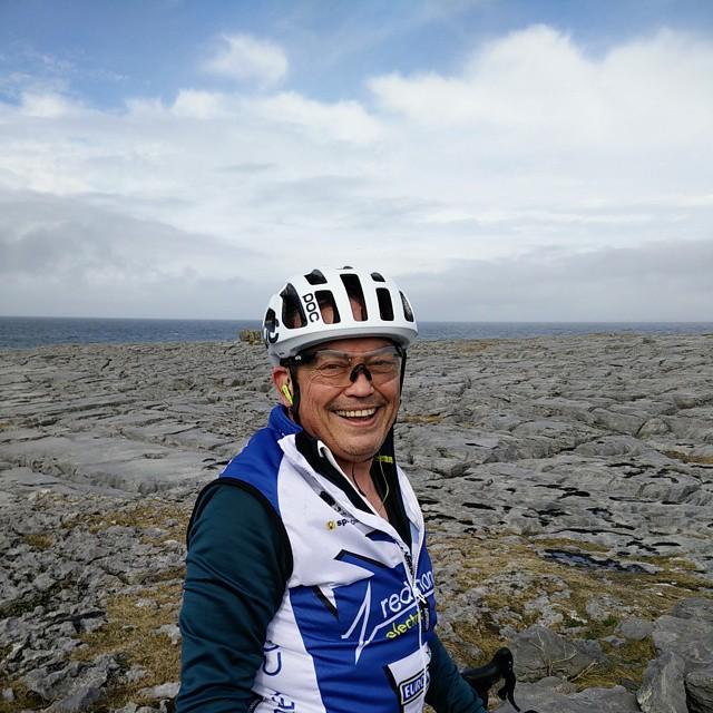 Mark, training in County Clare, Ireland.