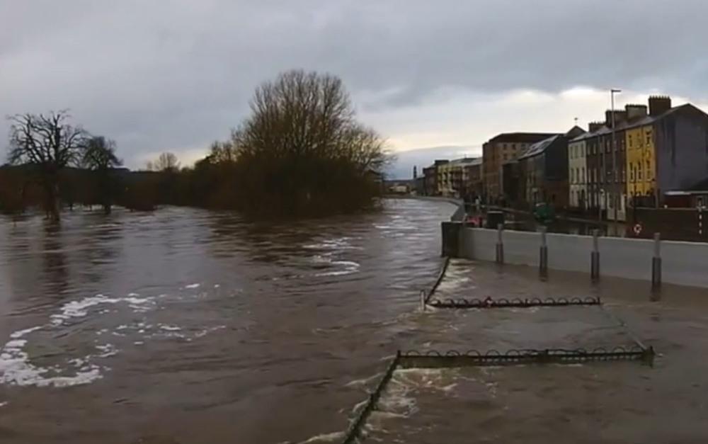 The same Tideflex valve submerged during Christmas floods 2015/2016