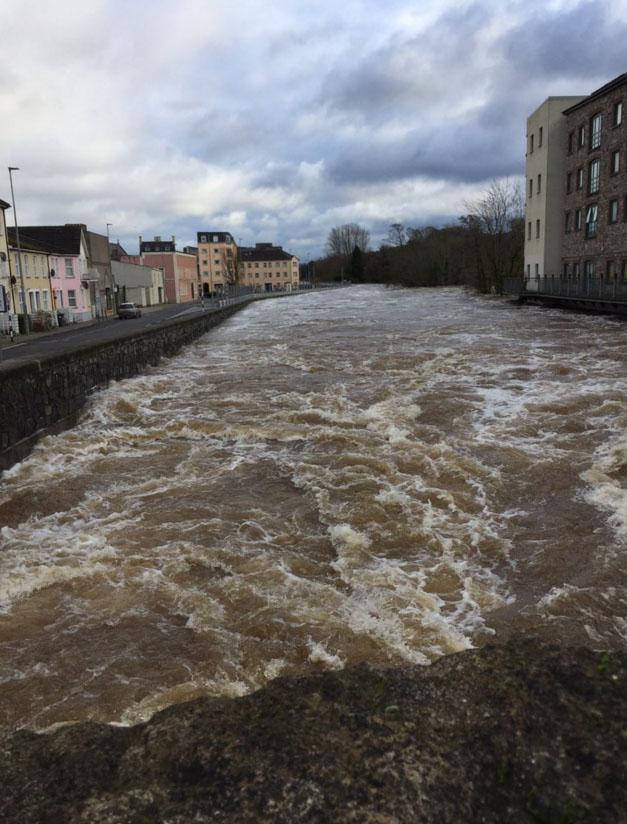 River Suir Old Bridge Flood 2015