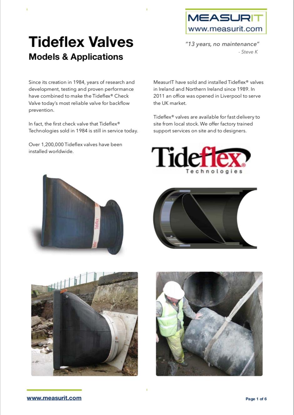 Tideflex Models Brochure