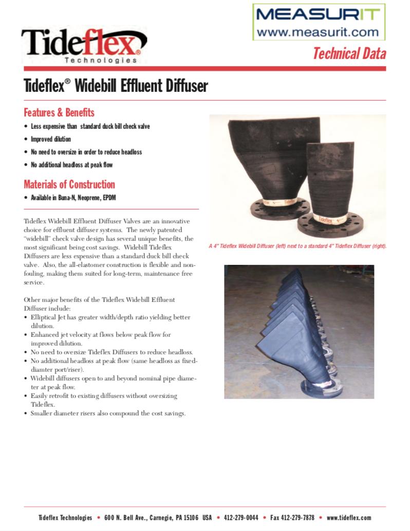 Tideflex Diffuser Data Sheet