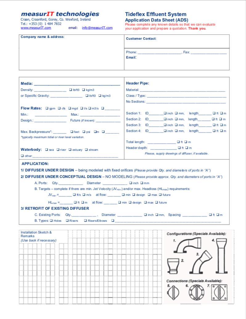 Tideflex Diffuser Calc Request