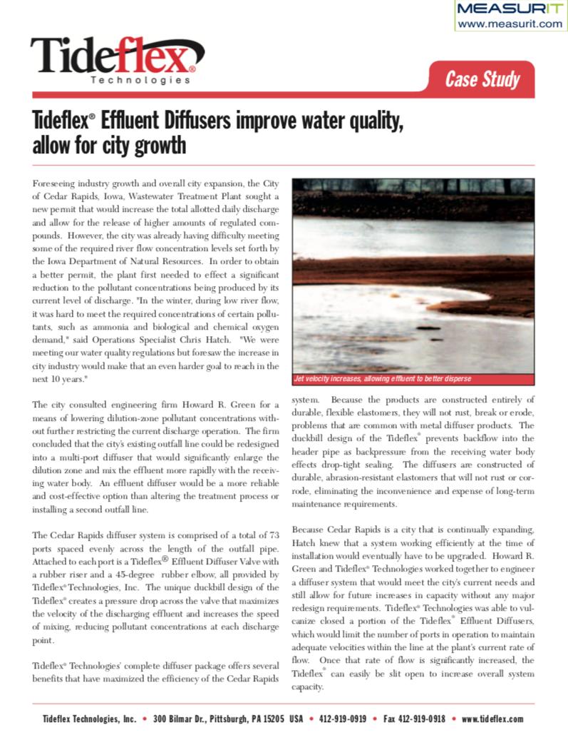 TF Diffuser Case Study Cedar Rapids