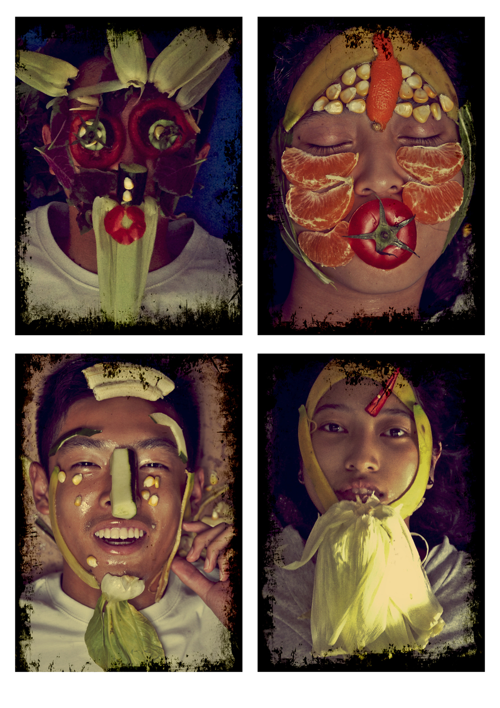 Arcimboldo Inspired Portraits by students in the CAS Photography Club at Alcanta International IB College, Guangzhou