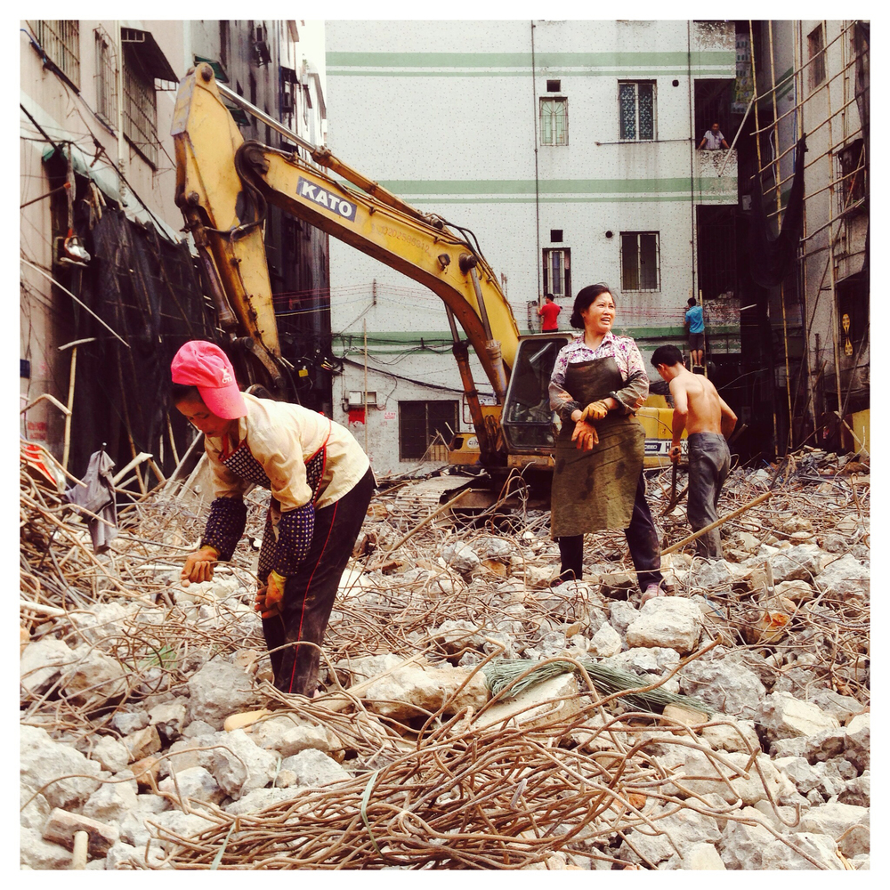 Demolition in Baiyun, Guangzhou  August 2014